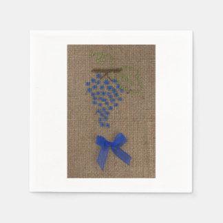 Servilleta de las uvas del bordado de la mano servilletas de papel