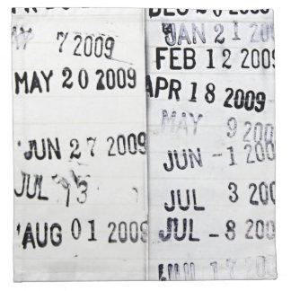 Servilleta de los sellos de fecha de la biblioteca