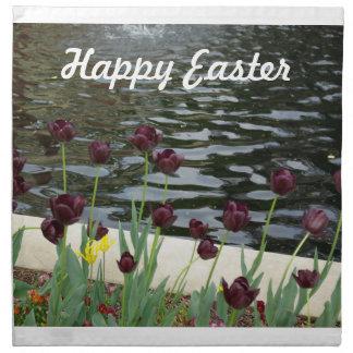 Servilleta de los tulipanes de Pascua