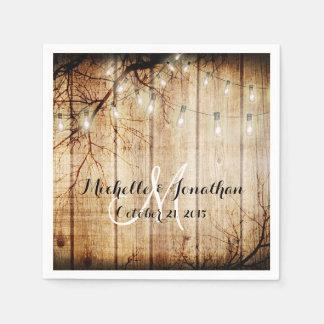 Servilleta de madera del boda del árbol de la servilleta desechable