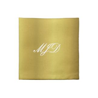 Servilleta de oro del cóctel del monograma