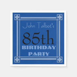 servilleta de papel azul del 85o de cumpleaños
