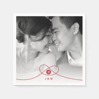 Servilleta de papel de la felicidad del boda chino