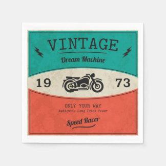 Servilleta de papel de la motocicleta del vintage