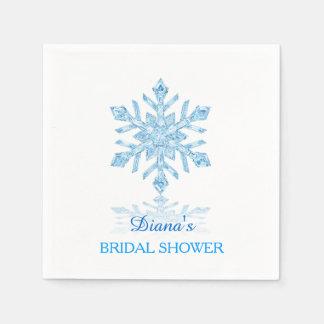Servilleta de papel del copo de nieve de la ducha