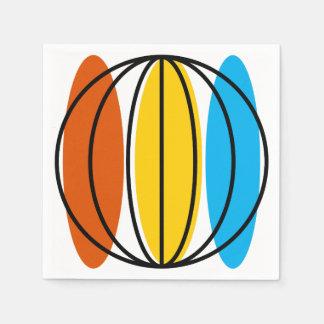Servilleta de papel del globo