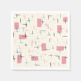 Servilleta de papel del modelo rosado atómico