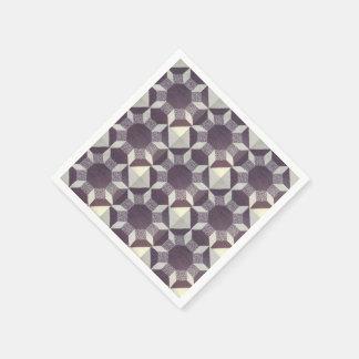 Servilleta de papel - modelo púrpura del edredón