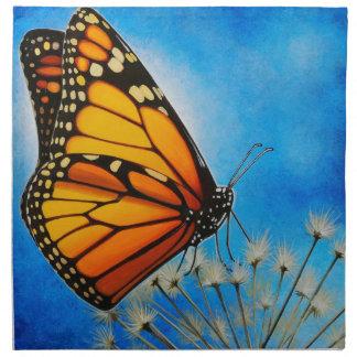 Servilleta de reclinación de la mariposa de monarc