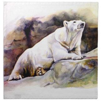 Servilleta de reclinación del oso polar