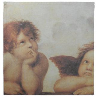 Servilleta del algodón de los ángeles de Raphael