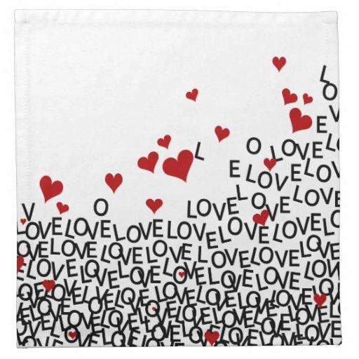 Servilleta del amor del el día de San Valentín