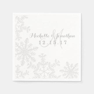 Servilleta del boda del invierno de los copos de servilletas desechables