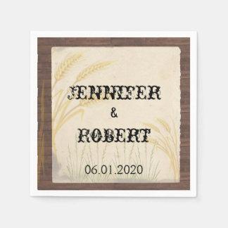 Servilleta del boda del pergamino de la hierba del servilletas de papel