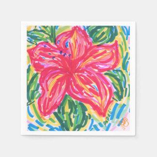 Servilleta del hibisco del Palm Beach Servilleta Desechable