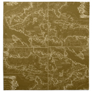Servilleta del mapa del mundo