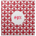 servilleta del monograma del elefante