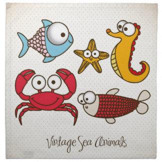 Servilleta del paño de los animales de mar del