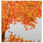 Servilleta del paño del otoño - hojas que caen en