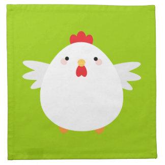 Servilleta del pollo de Kawaii del dibujo animado