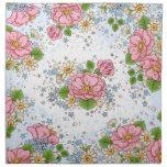 Servilleta del rosa de té fijada (azul)