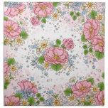 Servilleta del rosa de té fijada (rosa)