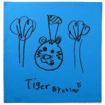Servilleta del tigre del arte de los niños