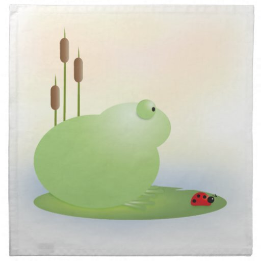 Servilleta dulce de la rana y de la mariquita de K
