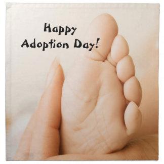 Servilleta feliz del pie del bebé del día de la ad