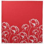 Servilleta floral del rojo de la amapola
