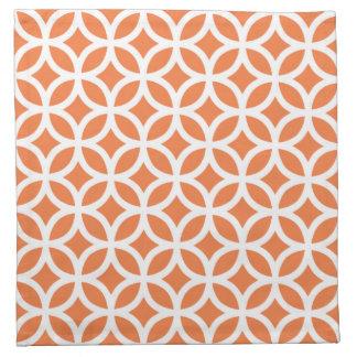 Servilleta geométrica del paño en naranja del