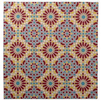 Servilleta geométrica islámica del modelo