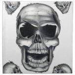 Servilleta humana del blanco de los cráneos