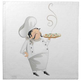 Servilleta italiana del cocinero de la pizza
