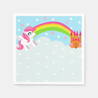 servilleta linda del unicornio servilleta de papel