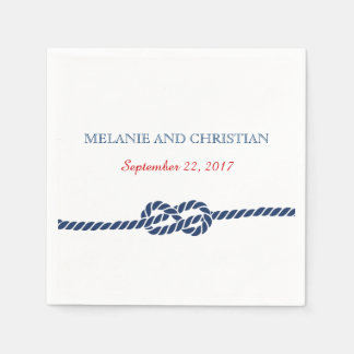 Servilleta náutica del cóctel del boda del nudo servilleta de papel