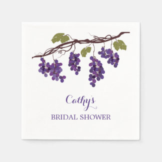 Servilleta nupcial de la ducha del viñedo servilletas de papel
