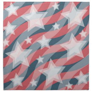 Servilleta patriótica de las barras y estrellas
