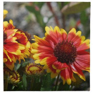 Servilleta roja y amarilla del Gaillardia