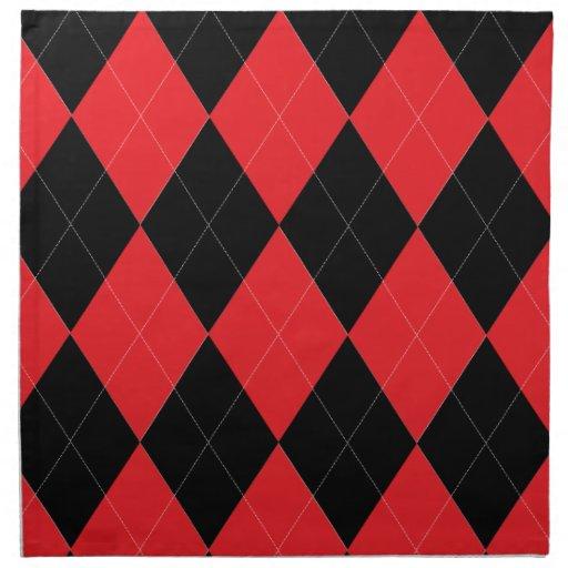 Servilleta roja y negra de Argyle