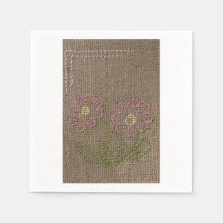 Servilleta rosada de la flor servilleta desechable