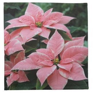 Servilleta rosada del Poinsettia