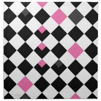 Servilleta rosada y negra de Argyle