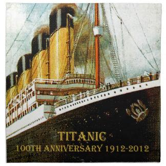 Servilleta titánica del aniversario del RMS 100a