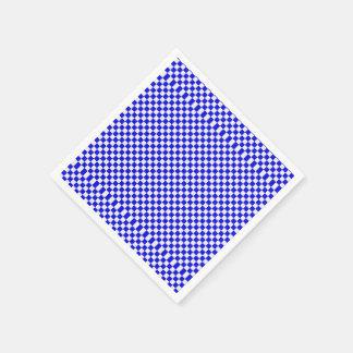 Servilletas a cuadros azules y blancas servilleta desechable