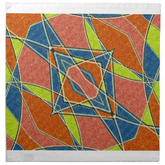 Servilletas abstractas multicoloras de MoJo del am