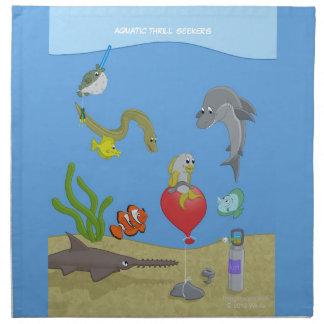 Servilletas acuáticas de los buscadores de la emoc