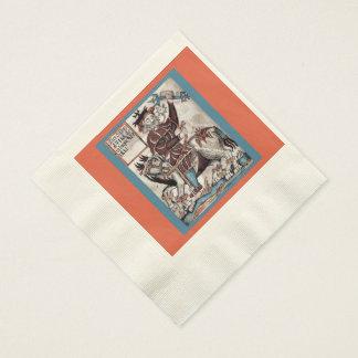 Servilletas acuñadas del alumerzo para el festival servilletas de papel