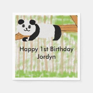 Servilletas adaptables del fiesta de la panda del servilleta desechable