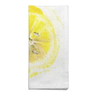 servilletas alegres del limón